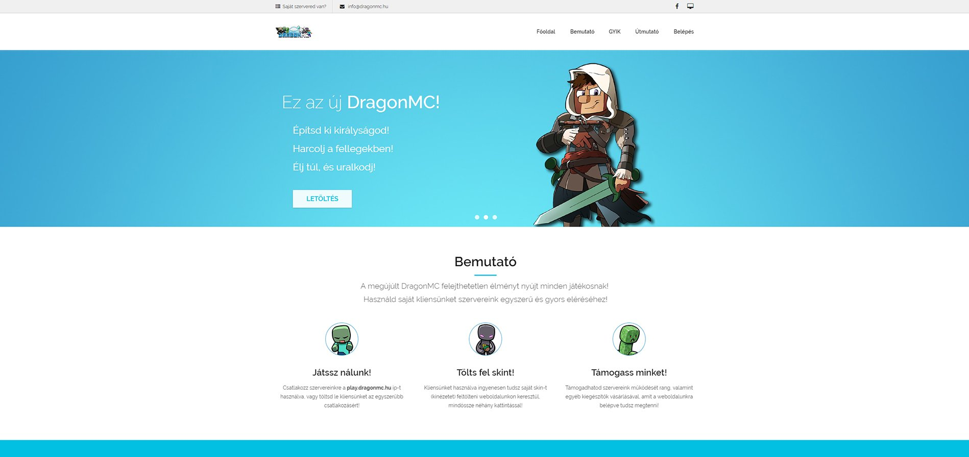 DragonMC Minecraft szerver - codelabs.hu